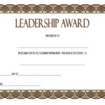 Leadership Award Certificate Template 7