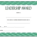 Leadership Award Certificate Template 8