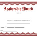 Leadership Award Certificate Template 9