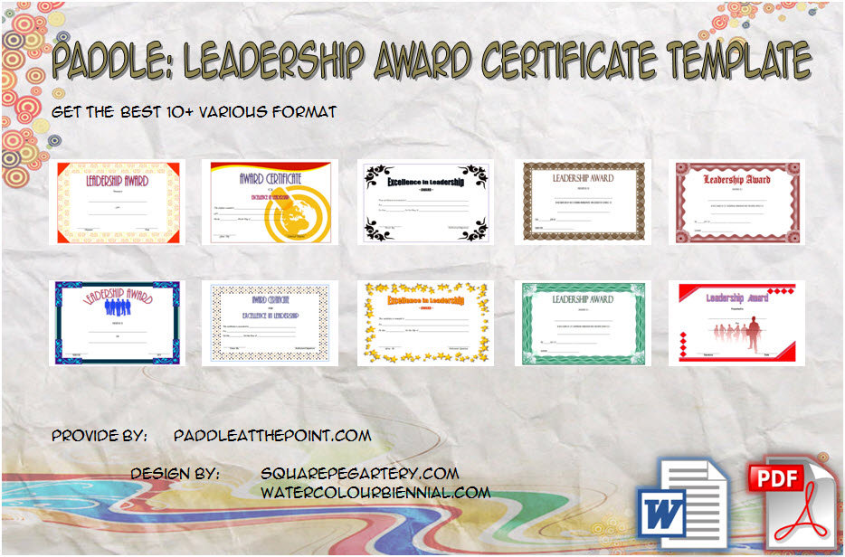 Leadership Award Certificate Templates By Paddle