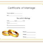 Marriage Certificate Editable Template 1