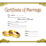 Marriage Certificate Editable Template 2