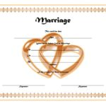 Marriage Certificate Editable Template 3
