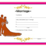 Marriage Certificate Editable Template 4