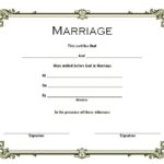 Marriage Certificate Editable Template 5
