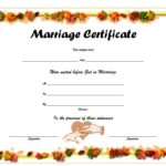 Marriage Certificate Editable Template 6