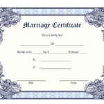 Marriage Certificate Editable Template 7
