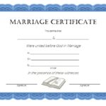 Marriage Certificate Editable Template 8