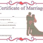 Marriage Certificate Editable Template 9
