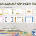 Marriage Certificate Templates By Paddle
