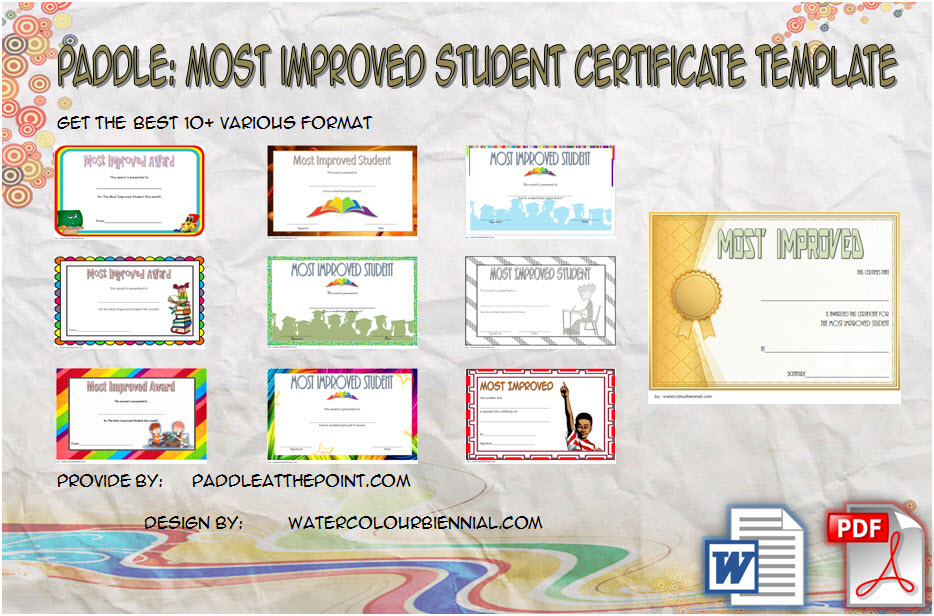 Download 10+ best ideas of Most Improved Student Certificate for good behaviour, award of the quarter, dedicated, elementary, school spirit, end of year free!