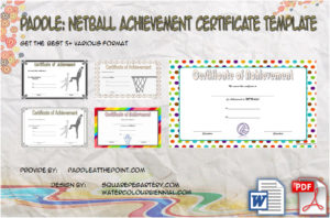 Netball Achievement Certificate Template
