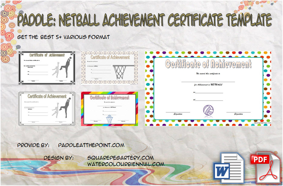 Netball Achievement Certificate Templates By Paddle