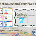 Netball Participation Certificate Templates by Paddle