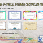 Physical Fitness Certificate Templates By Paddle