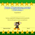 Pre Kindergarten Diploma Certificate 1