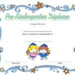 Pre Kindergarten Diploma Certificate 3