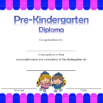 Pre Kindergarten Diploma Certificate 6