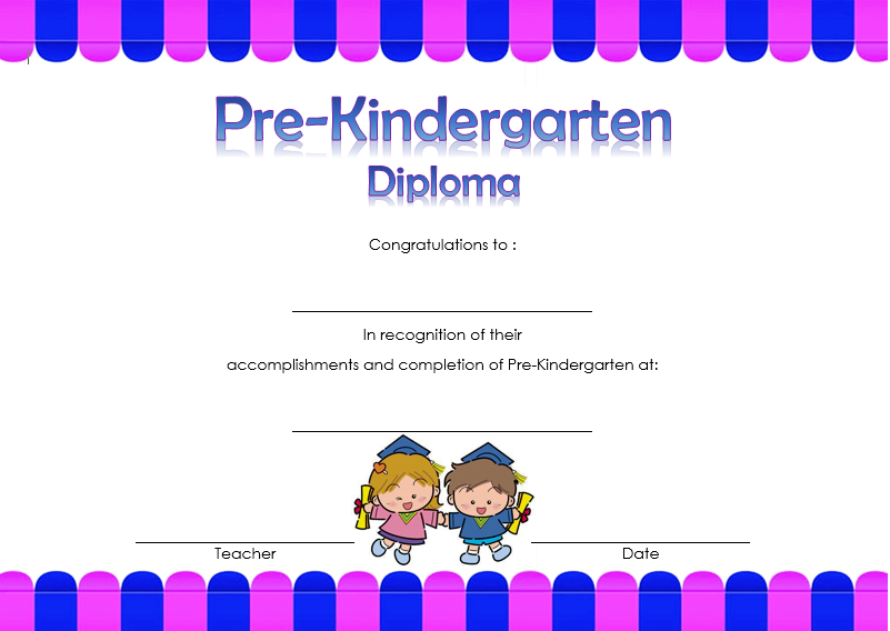 photo regarding Pre Kindergarten Diploma Printable identify Pre-Kindergarten Degree Certification 6 Paddle At The Reality