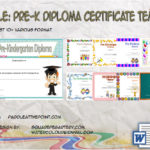 Pre Kindergarten Diploma Certificate Templates By Paddle