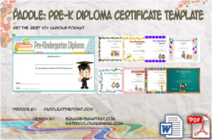Pre K Diploma Certificate Editable Templates