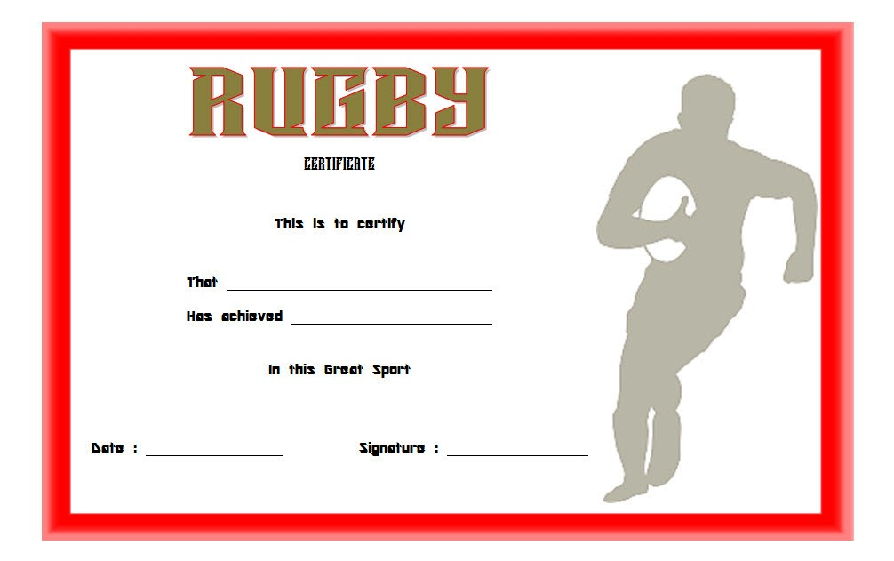 rugby certificate template, rugby achievement certificate template, rugby league certificate template, rugby man of the match certificate template, rugby player of the day certificate template, rugby certificate templates for word, blank football certificate template, end of season awards ideas rugby, star certificate template