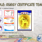 Rugby Certificate Template By Paddle