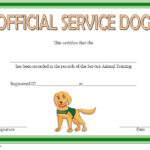 photo relating to Printable Service Dog Certificate titled Services Pet Certification Template 3 Paddle At The Simple fact