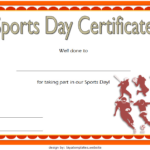 Sports Day Certificate Template 2
