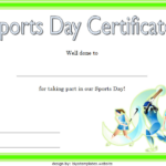 Sports Day Certificate Template 3