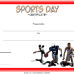 Sports Day Certificate Template 4