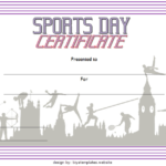 Sports Day Certificate Template 5