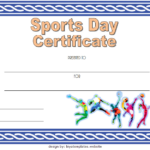 Sports Day Certificate Template 6