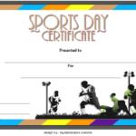 Sports Day Certificate Template 7
