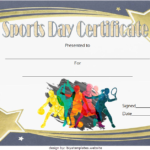 Sports Day Certificate Template 8
