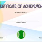Tennis Achievement Certificate Template