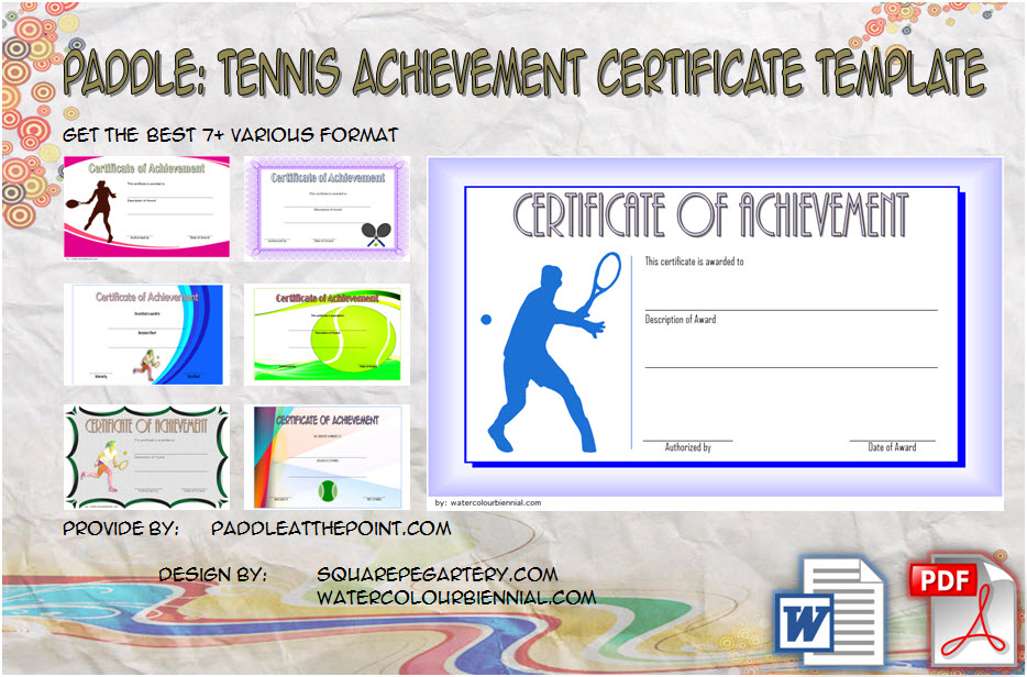Tennis Achievement Certificate Templates by Paddle
