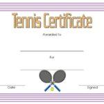Tennis Certificate Template – 10+ Best Design Ideas Free