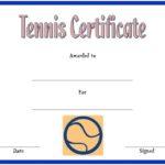 Tennis Certificate Template 2