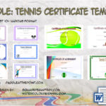 Tennis Certificate Templates By Paddle