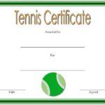 Tennis Certificate Template