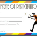Tennis Participation Certificate