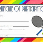Tennis Participation Certificate Template 6
