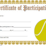 Tennis Participation Certificate Template 7