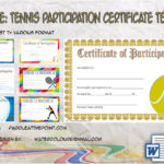 Tennis Participation Certificate Templates Free By Paddle