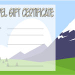 Travel Gift Certificate Template 3