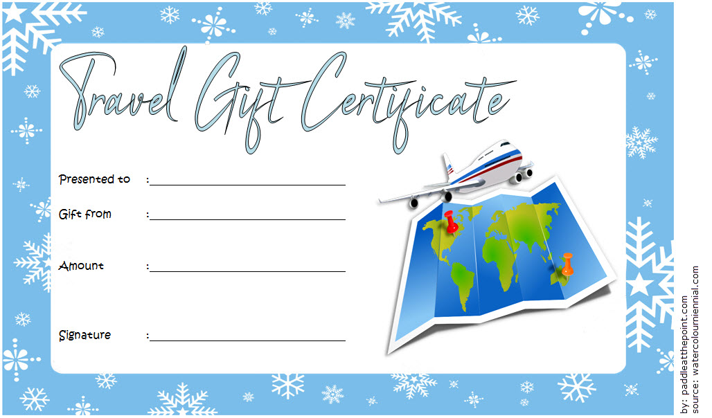 Travel Gift Certificate Templates 10 Best Ideas Free
