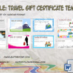 Travel Gift Certificate Templates By Paddle