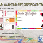 Valentine Gift Certificate Template By Paddle At The Point