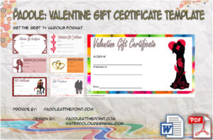 Valentine Gift Certificate Template